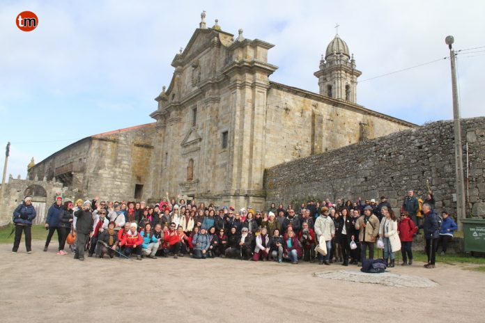 O Concello recibe a 150 peregrinos da Asociación Pes a Caminho