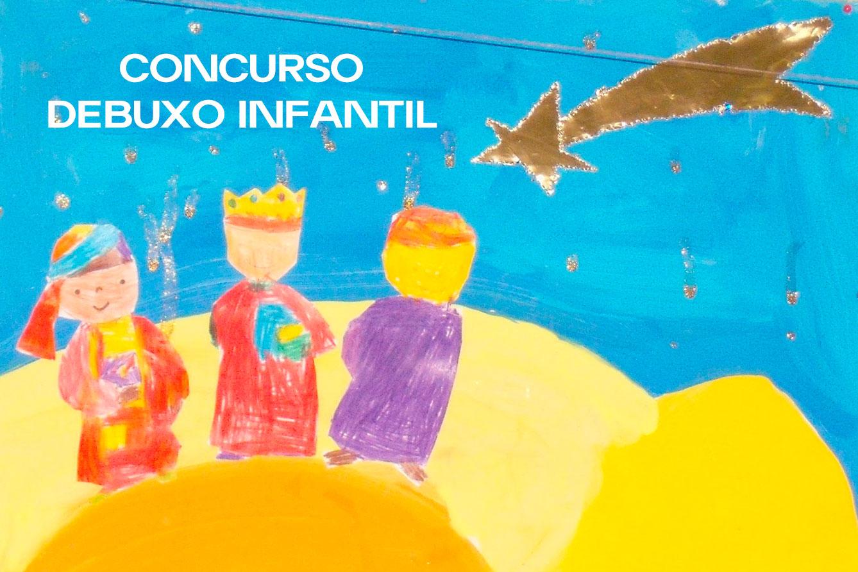 """Concurso debuxo infantil """"OS REIS MAGOS CHEGAN A OIA"""""""