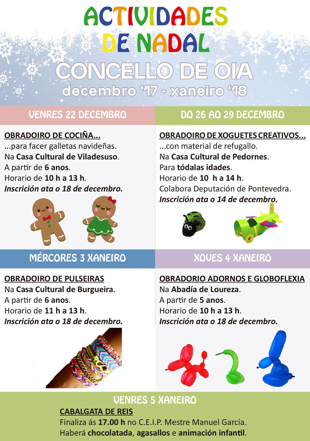 Actividades de nadal no Concello de Oia