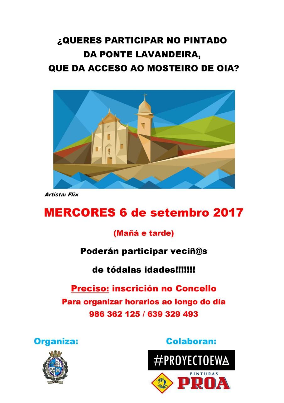 ¿Queres participar no pintado da Ponte Lavandeira, que da acceso ao Mosteiro de Oia?