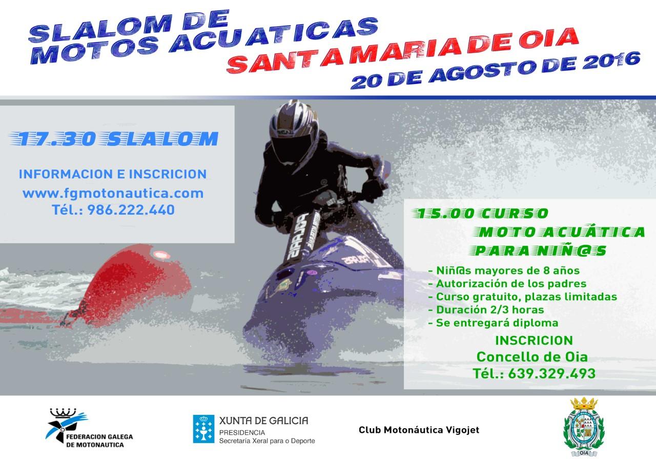 Slalom de motos actuáticas en Oia