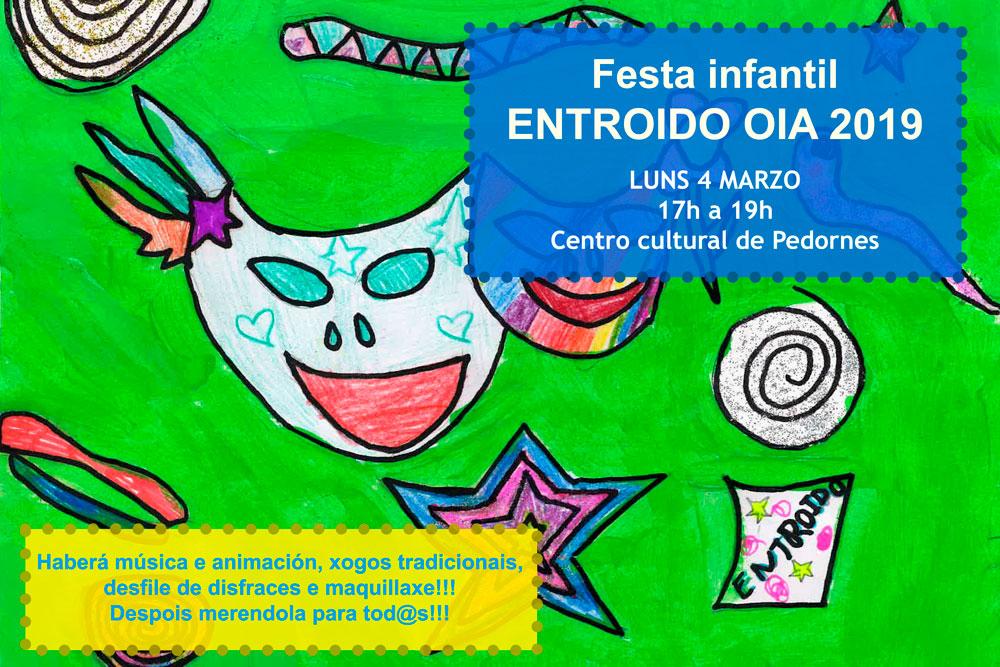 O entroido chega o luns a Oia cunha festa infantil chea de actividades