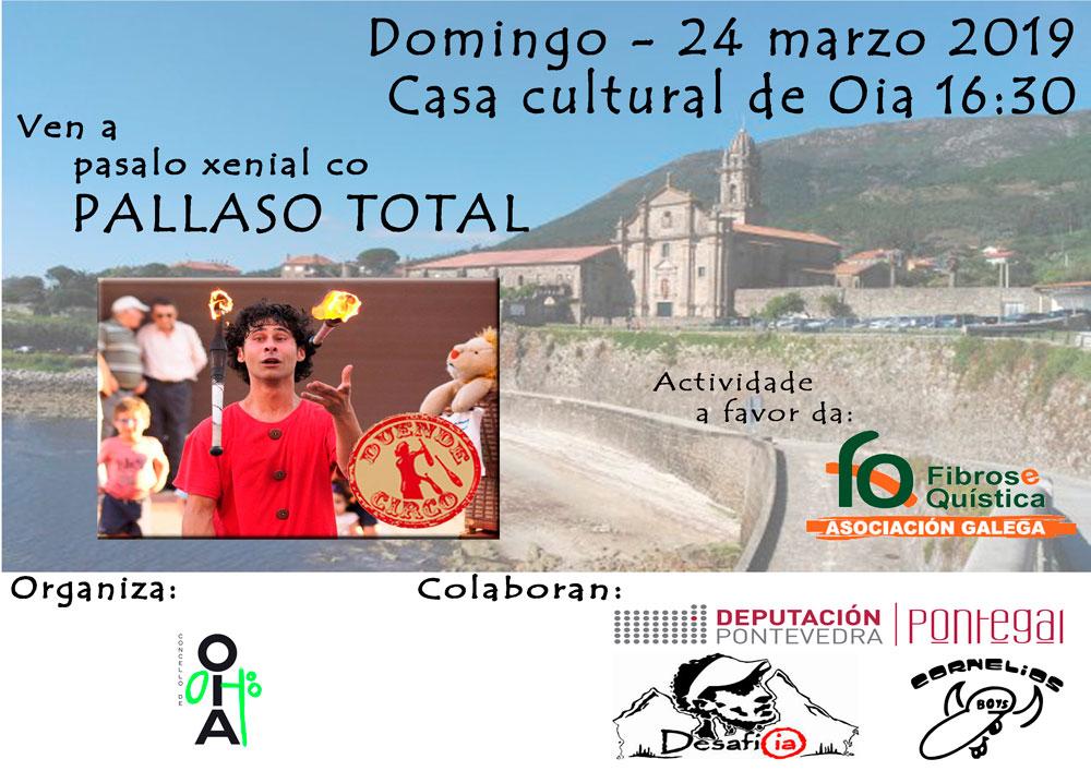 Espectáculo infantil de Pallaso Total este domingo en Oia