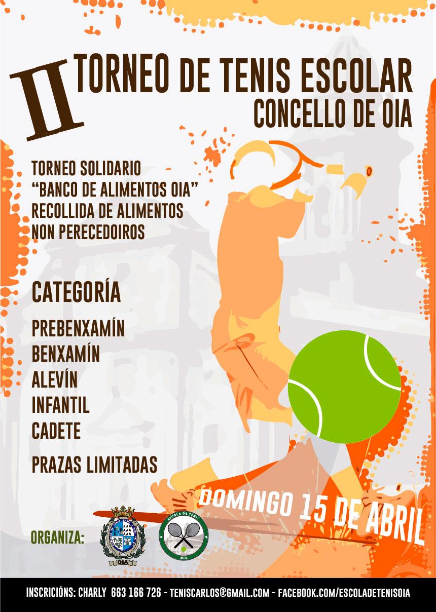 II Torneo de tenis escolar en Oia