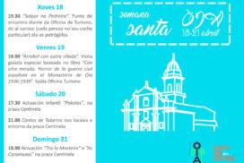 Semana Santa de cultura e lecer en Oia