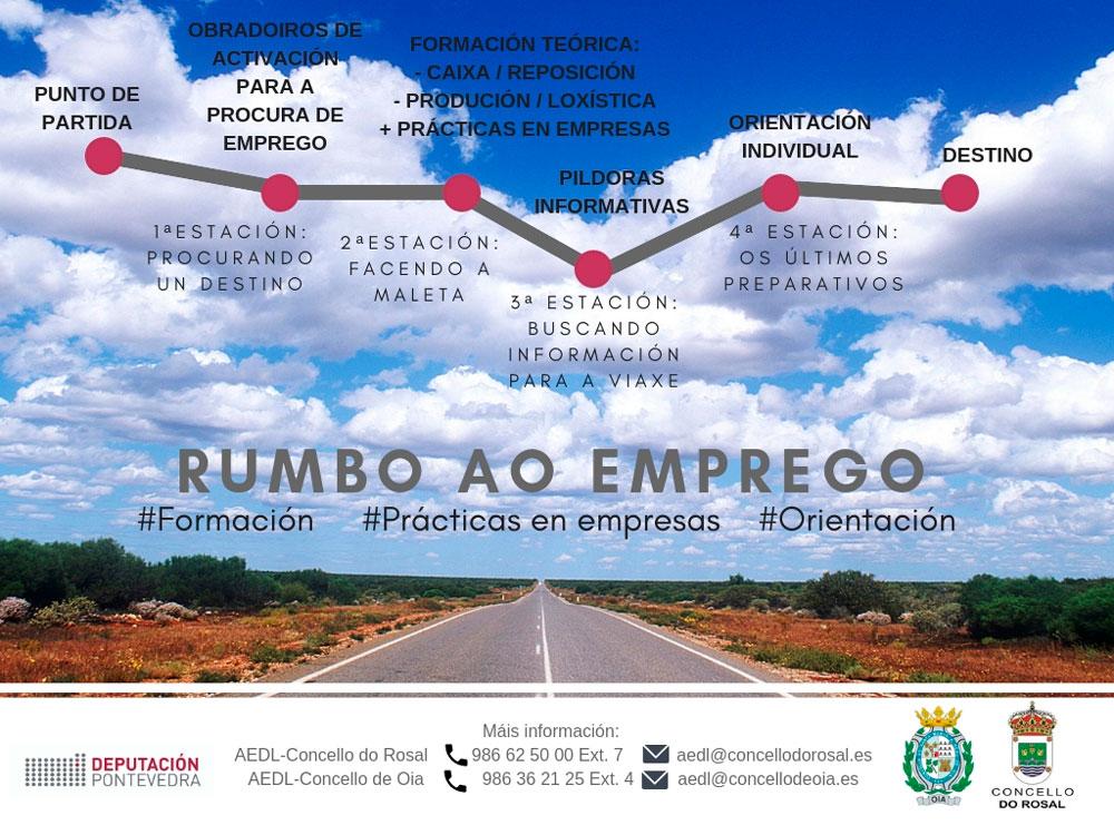 Os concellos de Oia e O Rosal lanzan un proxecto conxunto de fomento do emprego