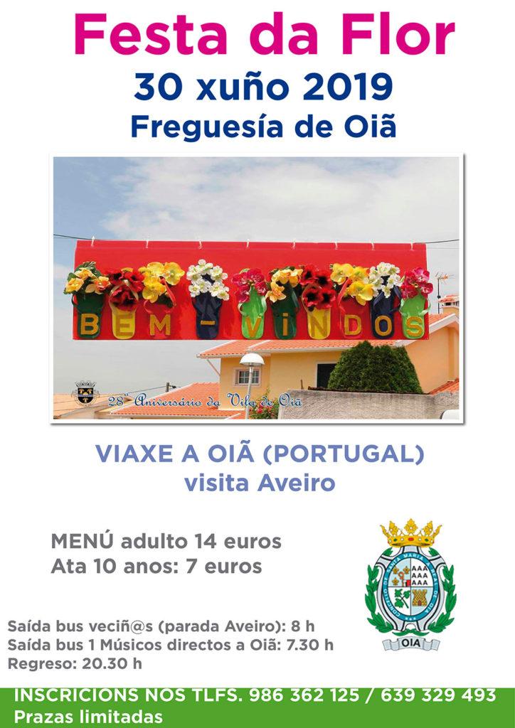 Oia participará nas celebracións da Festa da Flor da freguesía lusa de Oiâ o próximo 30 de xuño