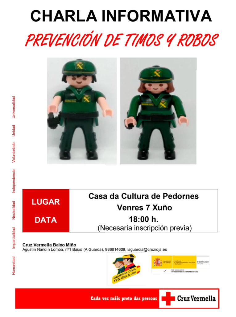 Charla informativa sobre prevención de roubos e timos en Pedornes