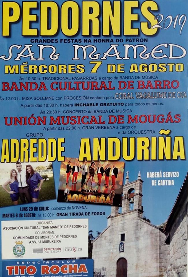 Festas Honra Patrón San Mamed – Pedornes