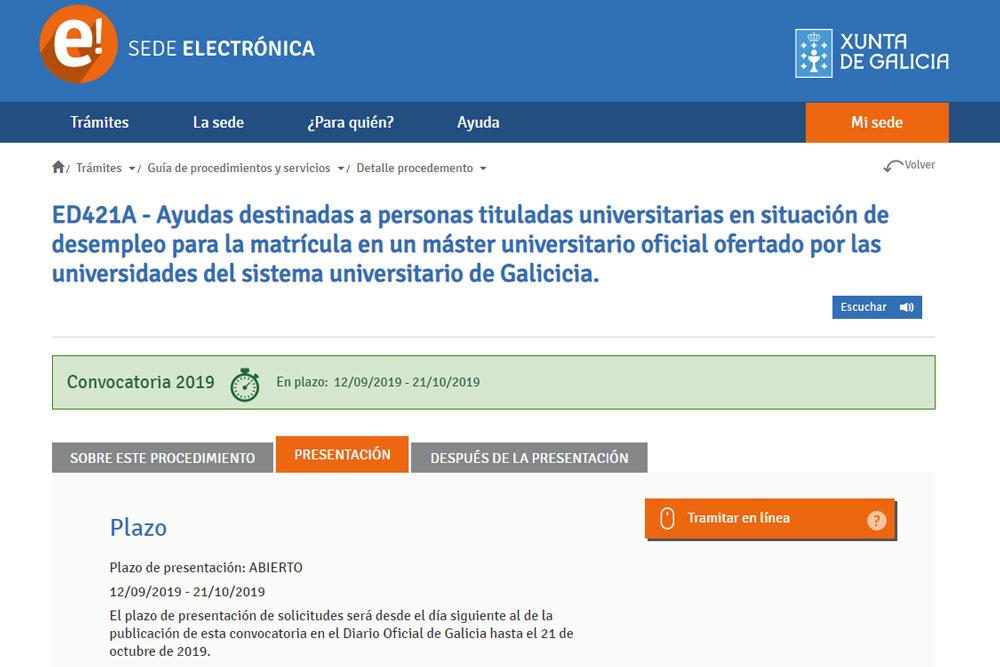 Axudas estudos titulados/as universitarios/as en situación de desemprego