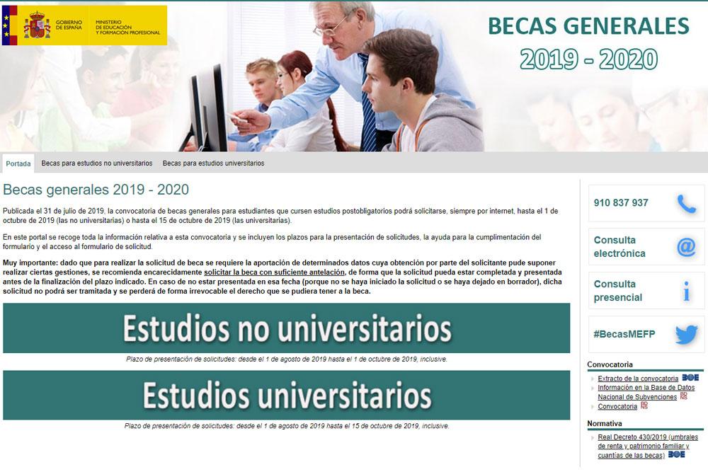 Bolsas MEC – Becas estudos 2019/2020