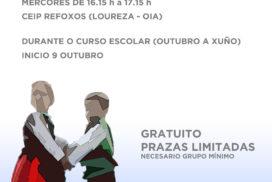 O Concello de Oia oferta un curso de baile galego como actividade extraescolar gratuíta