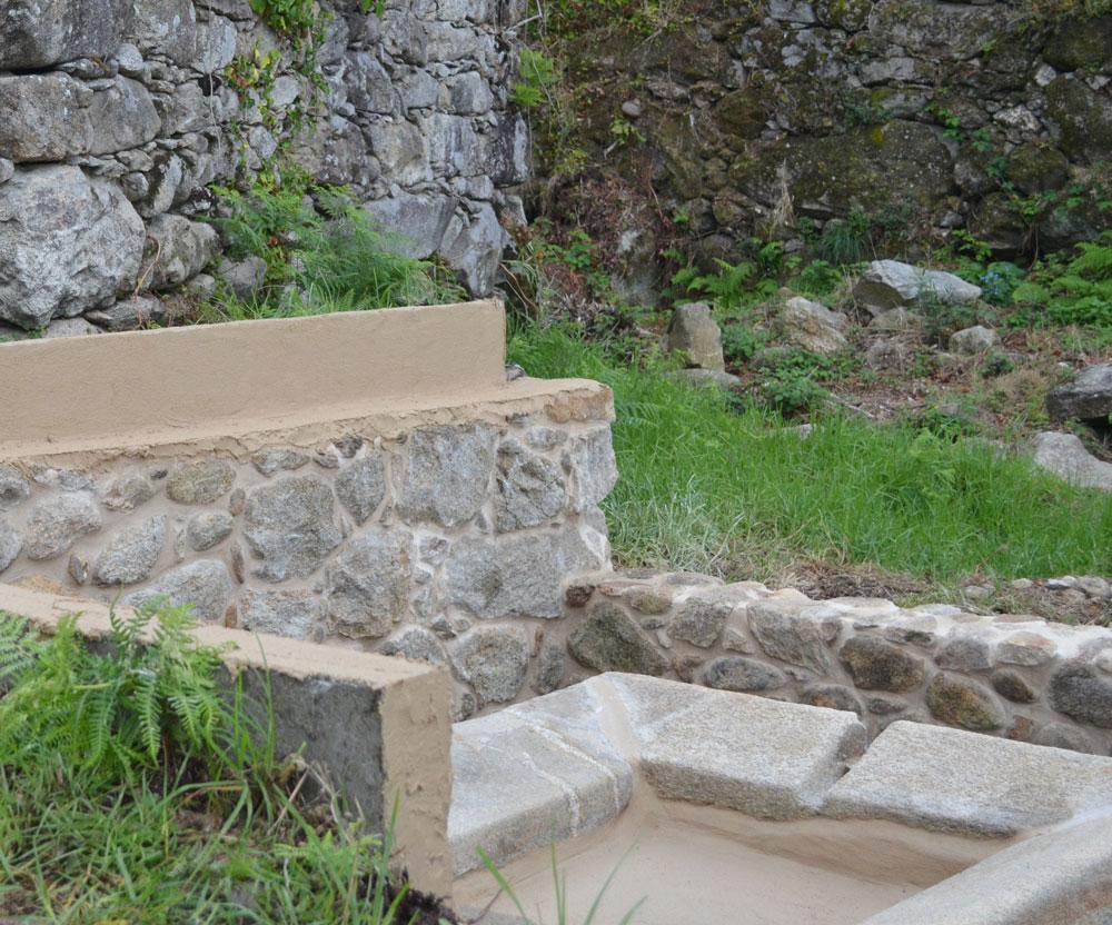 O Concello de Oia restaura o lavadoiro de Lavandeira