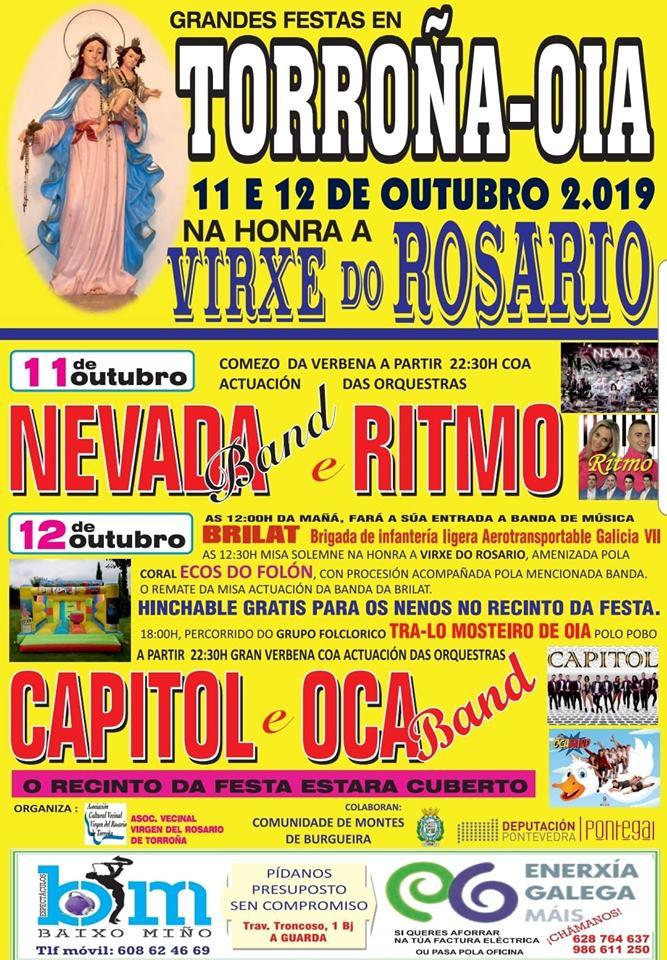 Festas Honra Virxe do Rosario en Torroña