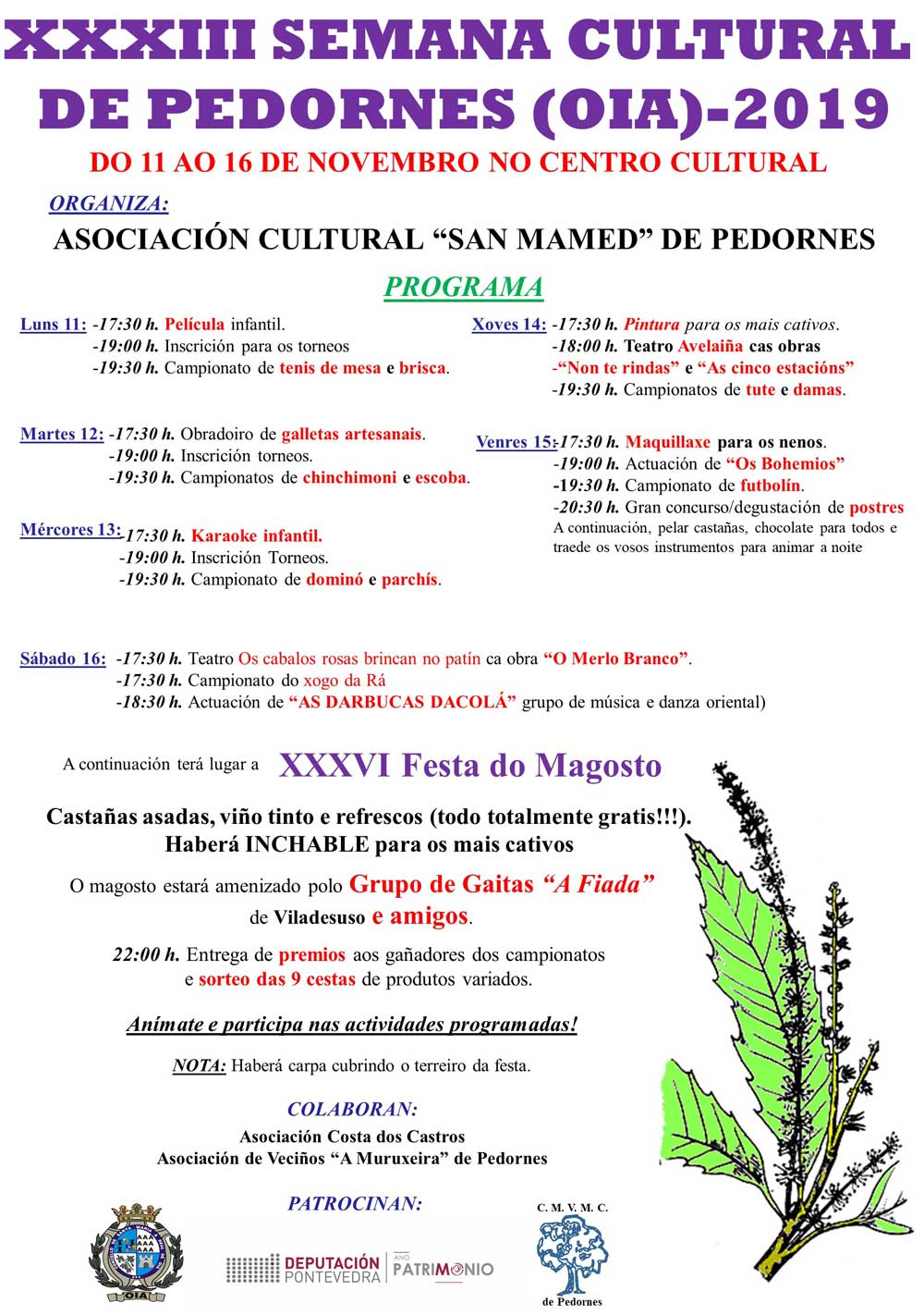 XXXIII Semana Cultural Pedornes