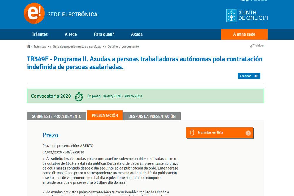 Programa de axudas a persoas traballadoras autónomas pola contratación e formación de persoas asalariadas