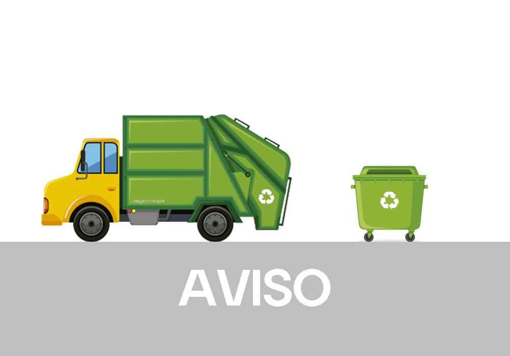 Cambio de localización temporal nalgúns contedores do lixo por avaría do camión pequeno