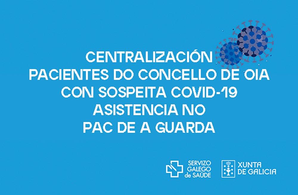 Centralización dos pacientes de Oia con sospeita de Covid-19 no Centro de saúde de A Guarda