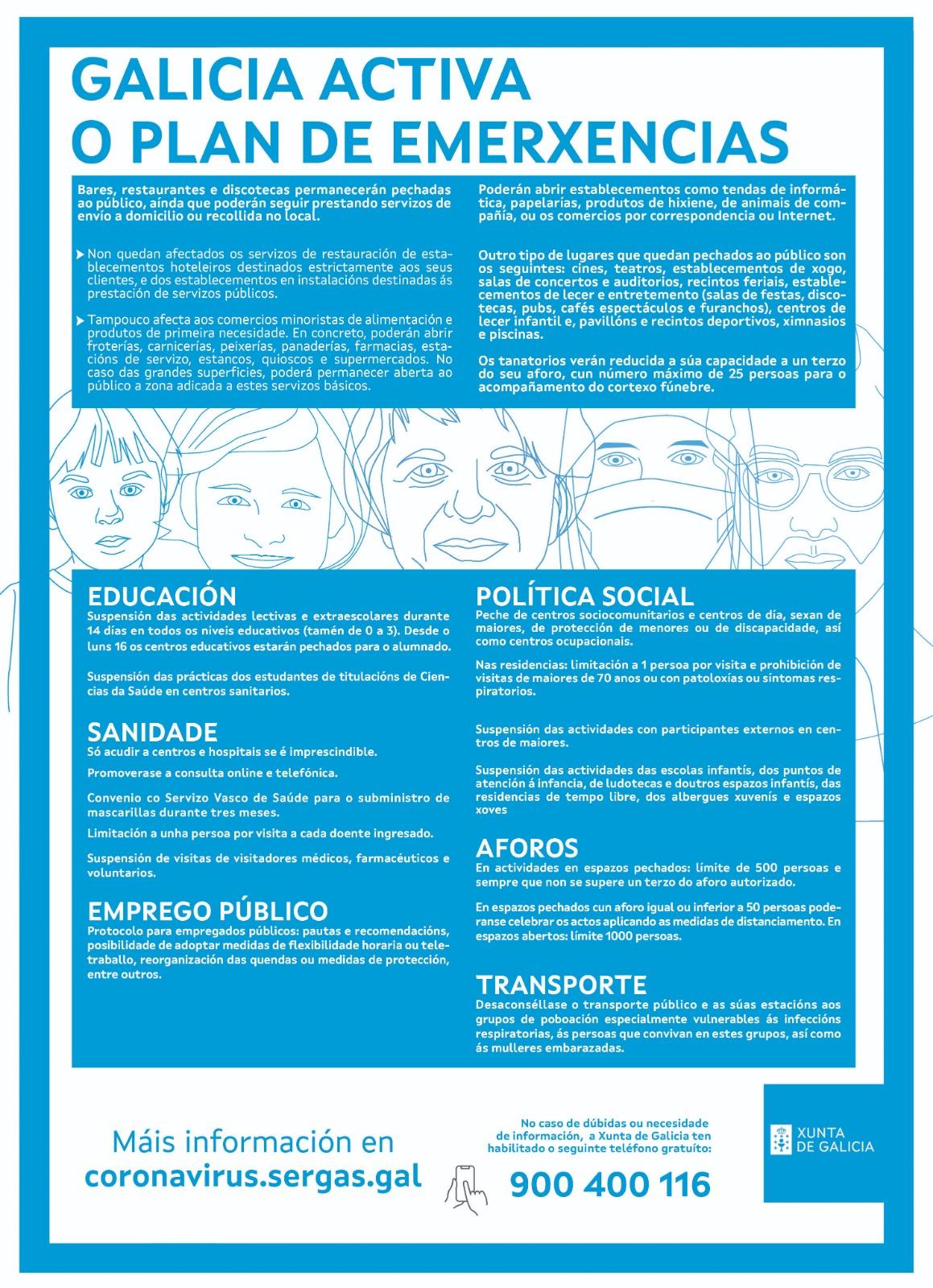 Declaran a situación de emerxencia sanitaria na Comunidade Autónoma de Galicia