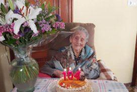 """A """"avoa de Oia"""", Purificación Granja, cumpre 104 anos"""