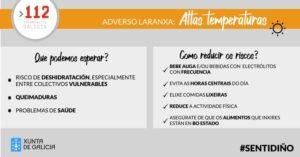 ALERTA LARANXA POR ALTAS TEMPERATURAS