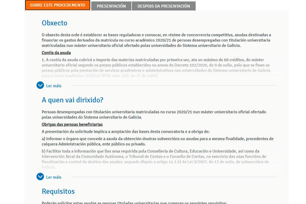 Axudas para cursar un máster universitario en Galicia