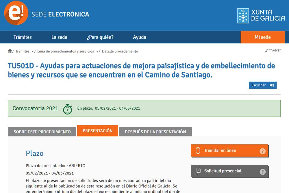 Axudas para actuacións de mellora paisaxística e embelecemento de bens no Camiño de Santiago