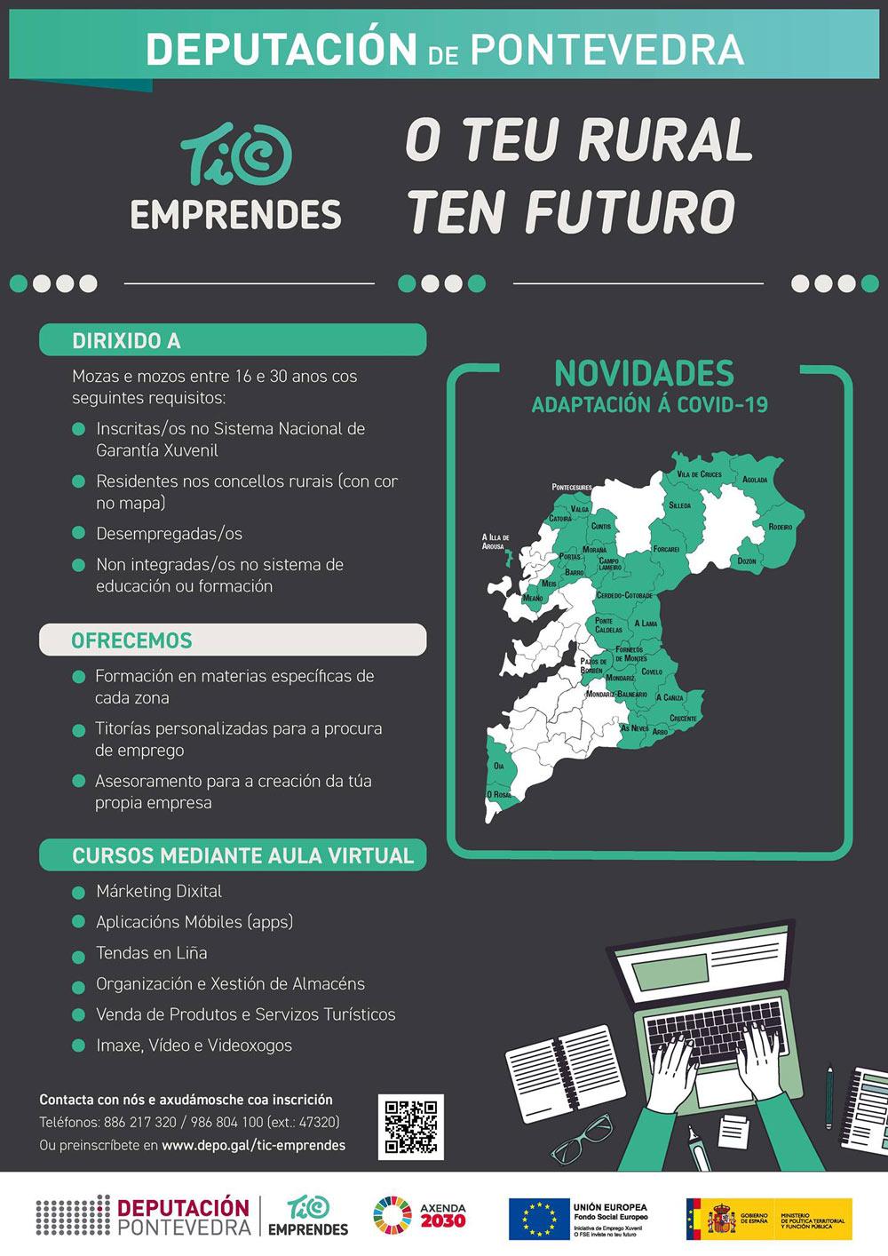 Formación TIC Emprendes da Deputación de Pontevedra