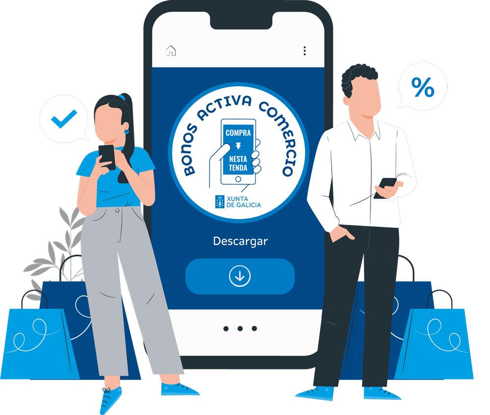 Bonos desconto para compras en establecementos comerciais de Galicia