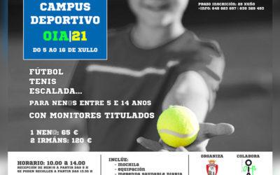 Campus deportivo en Oia do 5 ao 16 de xullo