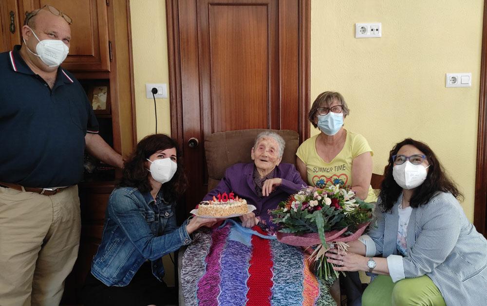 """A """"avoa de Oia"""", Purificación Granja, cumpre 105 anos"""