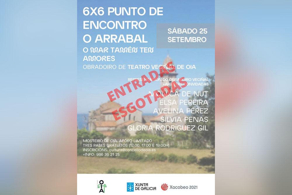 """Programa de man para a edición 2021 do """"6×6 punto de encontro o Arrabal"""""""