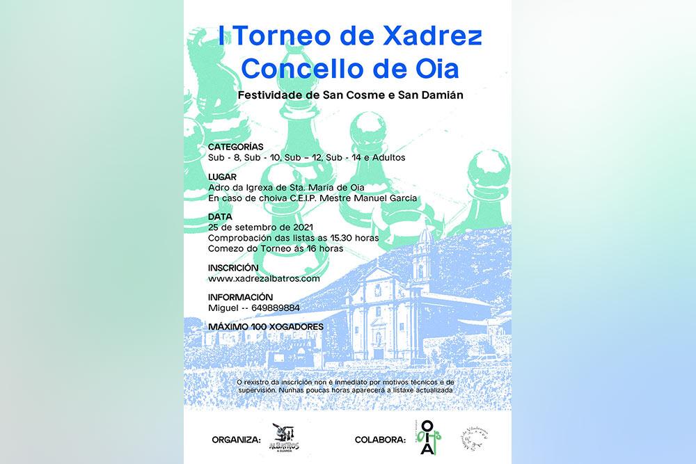 I Torneo de Xadrez Concello de Oia o 25 de setembro