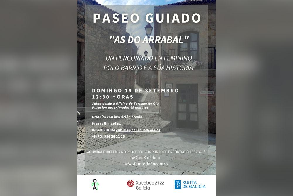 Paseo guiado sobre as mulleres na historia do Arrabal, este domingo en Oia