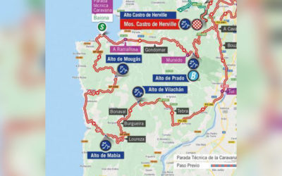 Cortes de tráfico en Oia por mor do paso de La Vuelta este sábado